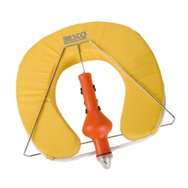 WYPRZEDAŻ! Zestaw Podkowa, pławka świetlna i uchwyt horse shoe Buoy- kolor żółty